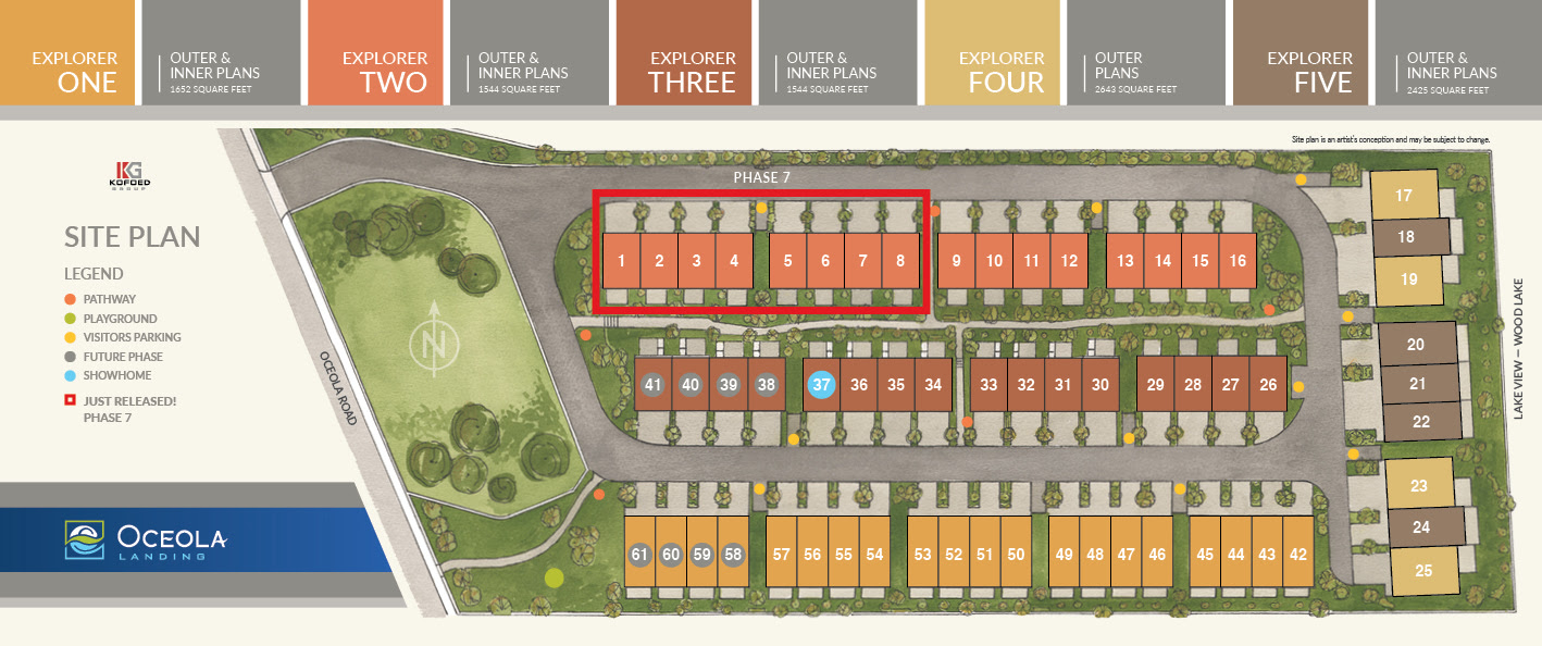 Site Plan Modern 3 Bedroom Townhomes in Lake Country, BC